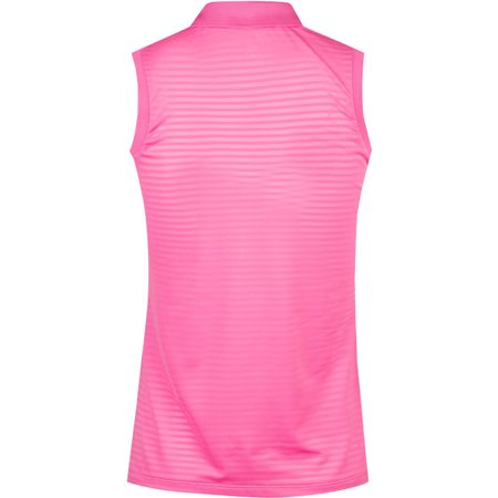Golf undefined Womens Texture Stripe Mesh Sleeveless Polo Maui Pink - SS19 made by Polo Ralph Lauren