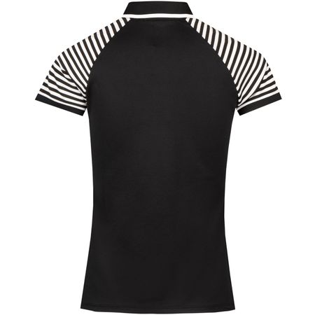 Polo Womens Striped Shoulder Tech Pique Polo Black - SS19 Polo Ralph Lauren Picture