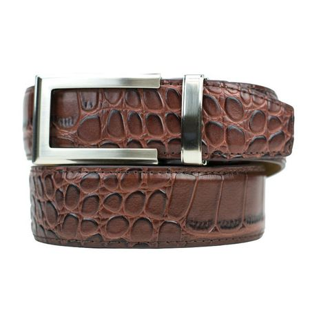 Golf undefined Nexbelt Reptile Alligator Dress Belt - Dark Brown made by Nexbelt