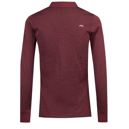 Golf undefined Womens Sanja LS Polo Intensive Plum Melange - AW18 made by Kjus