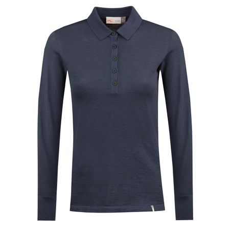Golf undefined Womens Sanja LS Polo Atlanta Blue Melange - AW18 made by Kjus