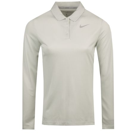 Polo Womens Dry LS Core Polo White - AW18 Nike Golf Picture