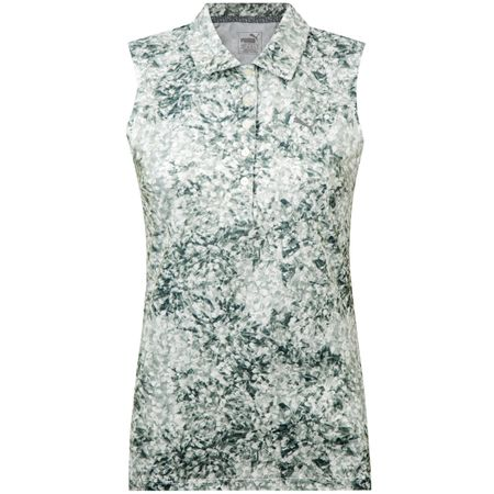 Polo Womens Floral Sleeveless Polo Quiet Shade - AW18 Puma Golf Picture