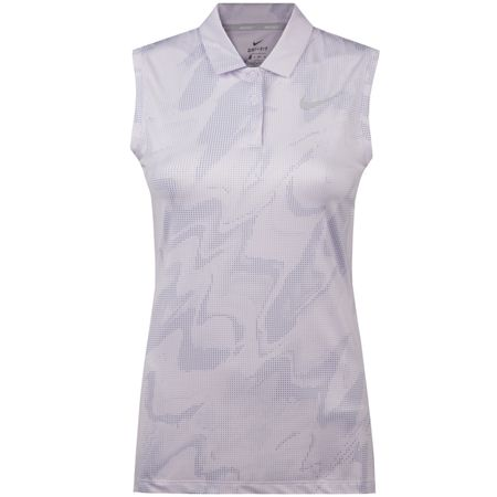 Golf undefined Womens SL Dry Polo Print Barely Grape made by Nike