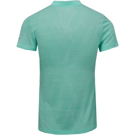 Golf undefined Womens Zonal Cooling SS Jacquard Polo Green Glow made by Nike