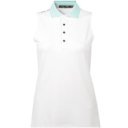 Golf undefined Womens Striped Collar SL Polo Pure White - SS18 made by Polo Ralph Lauren