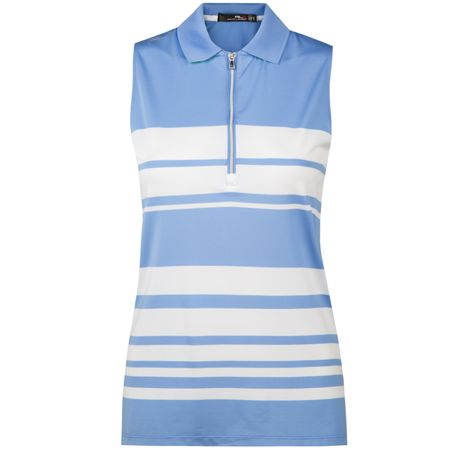 Polo Womens SL Half Zip Engineered Stripe Polo French Cabana Blue - SS18 Polo Ralph Lauren Picture