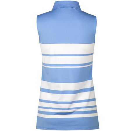 Golf undefined Womens SL Half Zip Engineered Stripe Polo French Cabana Blue - SS18 made by Polo Ralph Lauren