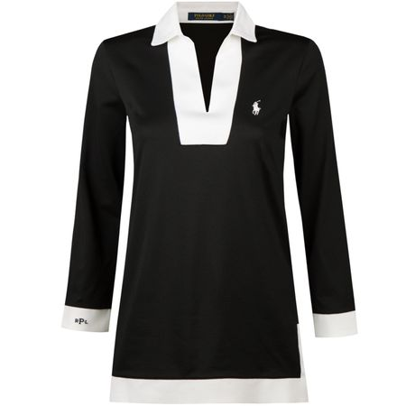 Polo Womens Long Sleeve Golf Tunic Polo Black - SS18 Polo Ralph Lauren Picture