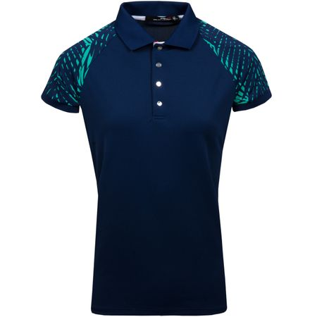 Golf undefined Womens Palm Print Polo French Navy - SS18 made by Polo Ralph Lauren