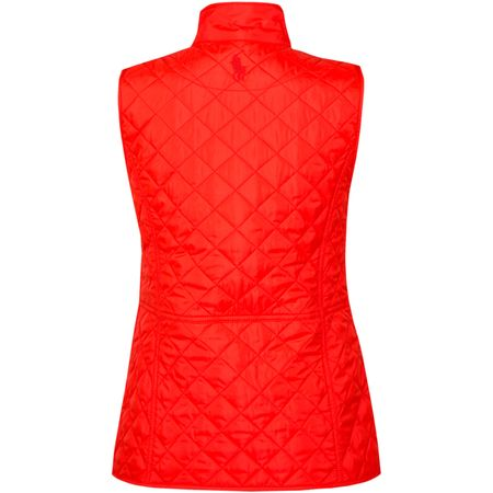 Golf undefined Womens Heritage Quilted Vest Blaze Red - SS18 made by Polo Ralph Lauren