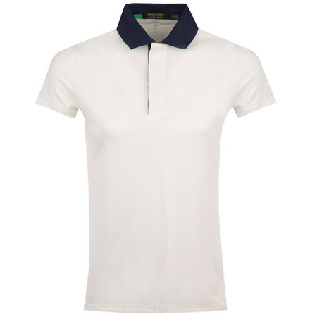 Golf undefined Womens Striped Jersey Polo Pure White - AW18 made by Polo Ralph Lauren