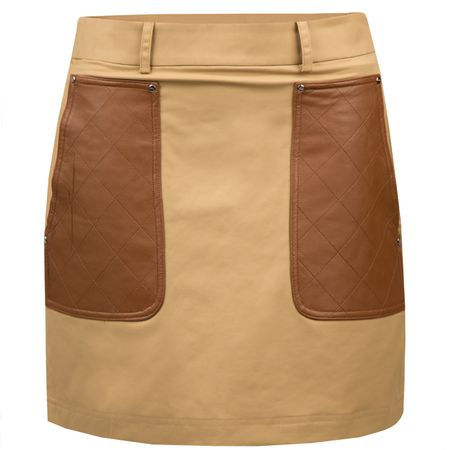 Golf undefined Womens Leather Quilted Skort Almond - AW18 made by Polo Ralph Lauren