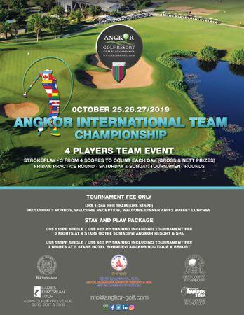Cover of golf event named Angkor International Team Championship 2019