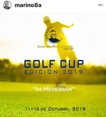 Cover of golf event named Don Marino Ochoa Golf Cup