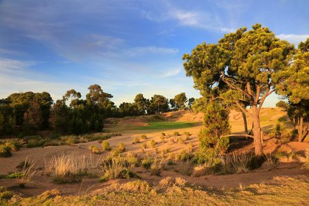 Overview of golf course named Royal Adelaide Golf Club