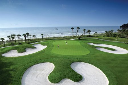 Overview of golf course named Palmetto Dunes Resort