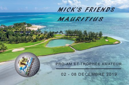 Cover of golf event named Mick's Friends Mauritus 2019