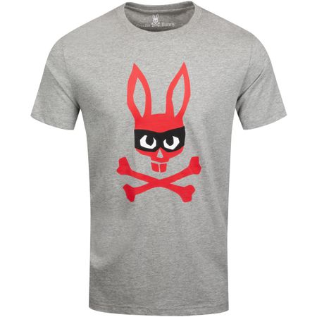 Golf undefined Mischief Bunny Graphic Tee Heather Grey - AW19 made by Psycho Bunny