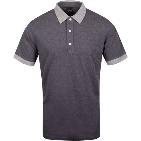 Polo Dunnet Natural Hand Golf Polo Dark Charcoal Heather/Grey - AW19 Dunning Picture