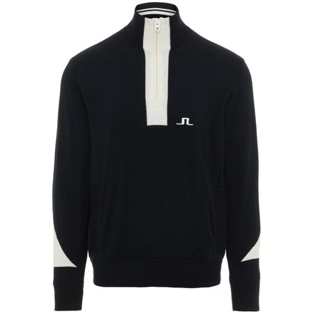 Golf undefined Gen Quarter Zip Merino Wool Coolmax Black - AW19 made by J.Lindeberg