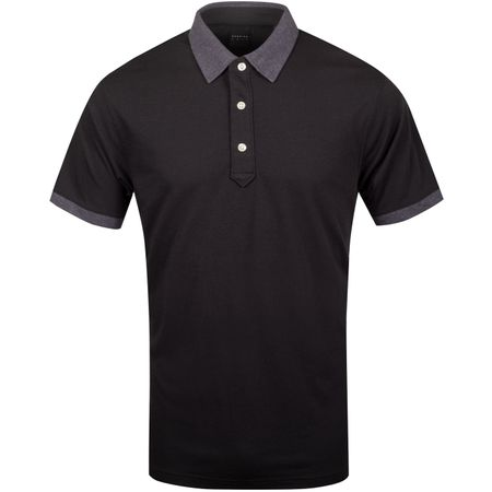 Golf undefined Dunnet Natural Hand Golf Polo Black/Dark Charcoal Heather - AW19 made by Dunning