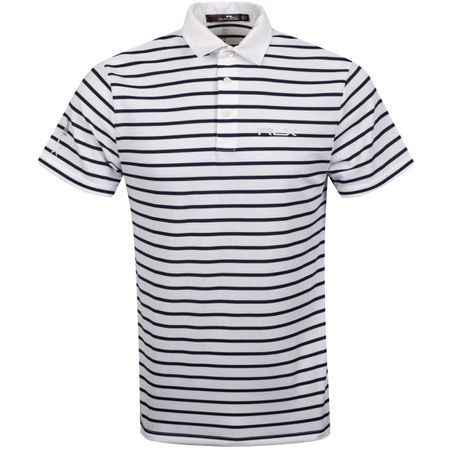 Golf undefined Pro Fit Stripe Tech Pique Polo Pure White/French Navy - AW19 made by Polo Ralph Lauren