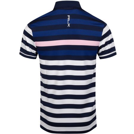 Golf undefined Pro Fit Bold Stripe YD Lightweight Tech Pique Carmel Pink Multi - AW19 made by Polo Ralph Lauren