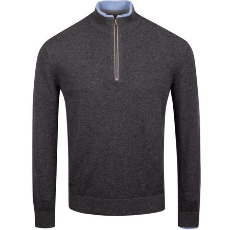 Golf undefined Sebonack Quarter Zip Sweater Dark Grey Heather - AW19 made by Greyson