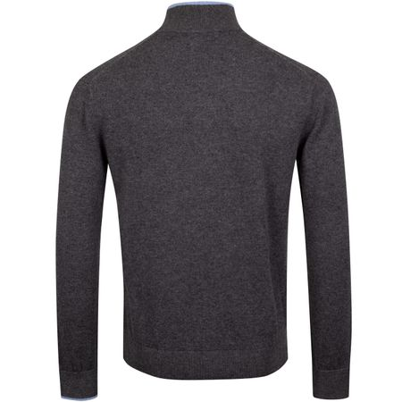 Hoodie Sebonack Quarter Zip Sweater Dark Grey Heather - AW19 Greyson Picture