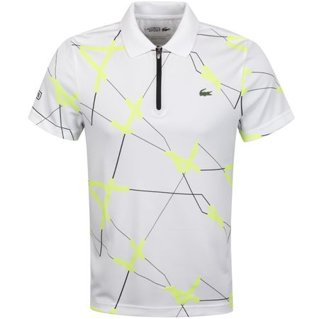 Golf undefined Graphic Technical Zip Polo White/Black - AW19 made by Lacoste
