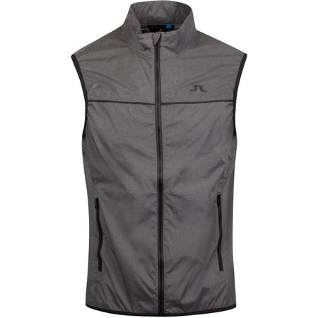 Golf undefined Luke Piped Stretch Wind Pro Vest Dark Grey Melange - AW19 made by J.Lindeberg