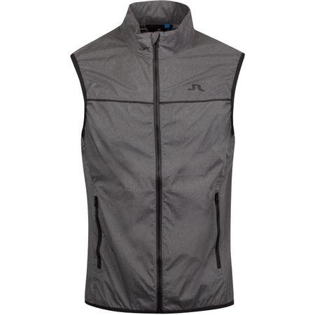 Golf undefined Luke Piped Stretch Wind Pro Vest Dark Grey Melange - AW19 made by J.Lindeberg