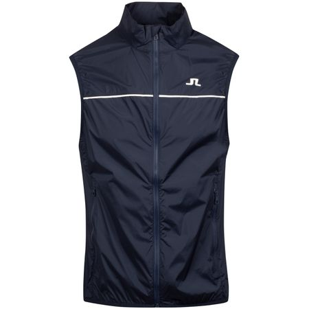 Jacket Luke Piped Stretch Wind Pro Vest JL Navy - AW19 J.Lindeberg Picture