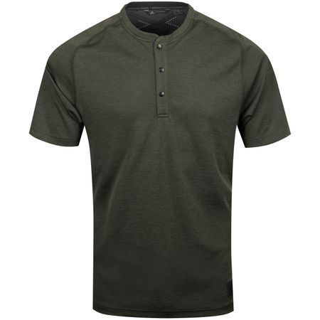 Polo Adicross No Show Transition Henley Shirt Legend Earth - AW19 Adidas Golf Picture