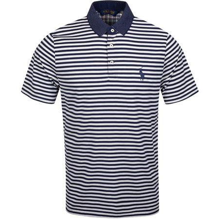 Polo Woven Details Stripe Polo White/French Navy - AW19 Polo Ralph Lauren Picture