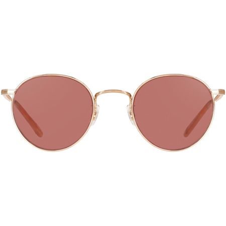 Sunglasses Wilson M 49 Rose Gold/Peach/Semi Flat Bordeaux - 2019 Garrett Leight Picture