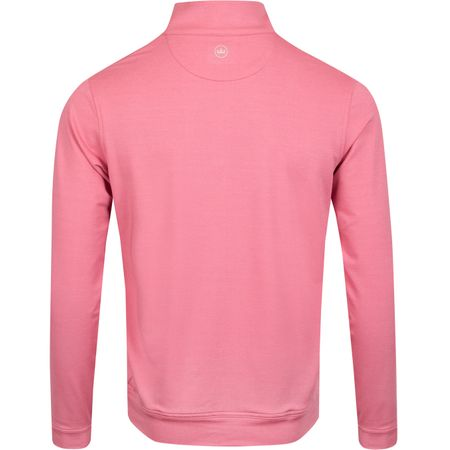 Golf undefined Perth Quarter Zip Melange Rhododendron/British Grey - AW19 made by Peter Millar