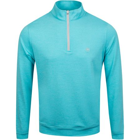Golf undefined Perth Quarter Zip Melange Seasalt - AW19 made by Peter Millar