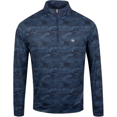 MidLayer Perth Camo Print Quarter Zip Navy - AW19 Peter Millar Picture
