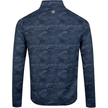 Golf undefined Perth Camo Print Quarter Zip Navy - AW19 made by Peter Millar
