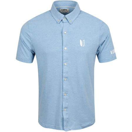 Golf undefined Dry Tech Stretch Full Button Polo Fountain Heather - AW19 made by Linksoul
