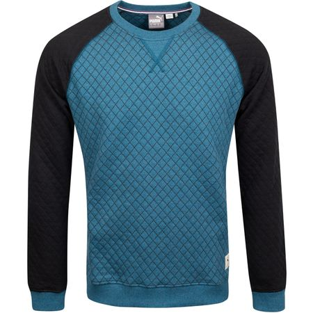 Golf undefined Quilted Crew Gibraltar Sea Heather - AW19 made by Puma Golf