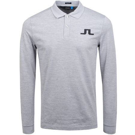 Polo Big Bridge LS Regular TX Brushed Jersey Stone Grey Melange - AW19 J.Lindeberg Picture