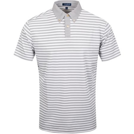 Golf undefined Bechet Stripe Stretch Pique Mesh Gale Grey - AW19 made by Peter Millar