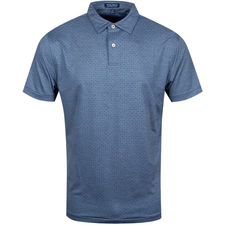 Polo Morton Print Polka Dot Jersey Navy - AW19 Peter Millar Picture