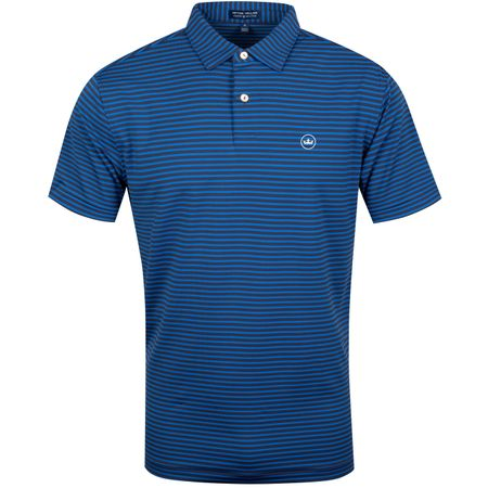 Golf undefined Miles Stripe Stretch Jersey Navy/Rebel Blue - AW19 made by Peter Millar