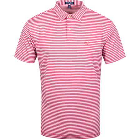 Golf undefined Miles Stripe Stretch Jersey Antique Rose - AW19 made by Peter Millar