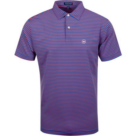 Golf undefined Miles Stripe Stretch Jersey Rebel Blue/Autumn - AW19 made by Peter Millar