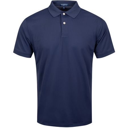 Golf undefined Fitzgerald Solid Pique Mesh Navy - AW19 made by Peter Millar